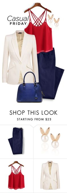 """""""casual friday"""" by stoian-ac on Polyvore featuring Lands' End, Aamaya by priyanka and Alexander McQueen"""