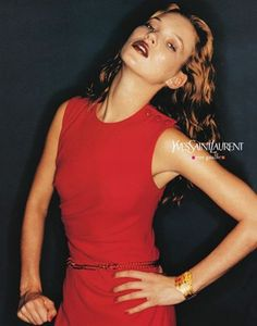 Kate Moss shot by Juergen Teller for Yves Saint Laurent SS1997 Ad Campaign   Art Director Laurence Perez   laurenceperez.com
