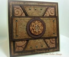 ART DECO MEDALLIONNS- LEATHER EMBOSSED? by shawn-eindiangirl - Cards and Paper Crafts at Splitcoaststampers