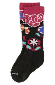 SmartWool 'Wintersport Flower Patch' Knee High Socks (Toddler Girls, Little Girls & Big Girls) available at #Nordstrom