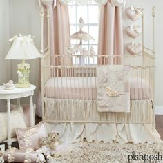 Create a soothing, feminine space for your princess with Glenna Jean's Ribbons & Roses, a magnificent set that combines velvet, floral prints, damask and more in soft pink and ivory. Transitions to a toddler/child set beautifully. Shop our entire Glenna Jean collection - link in profile!  http://www.pishposhbaby.com/glenna-jean-roses-and-ribbons.html