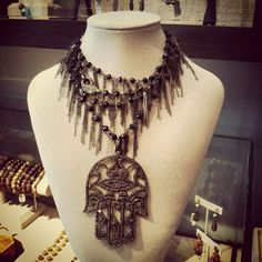 Pave Diamond Hamsa with Onyx Chain.  Twitter / Recent images by @Samira13Jewelry Hamsa, Chain, Diamond, Twitter, Image, Jewelry, Fashion, Jewlery, Moda
