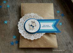 Verpackung für ein Geschenk zur Geburt - Stampin' Up - Geschenktüten Schnelle Überraschung - Zum Nachwuchs