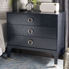 Gerald 3 Drawer Nightstand & Reviews | Joss & Main