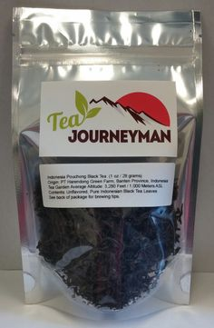 Indonesia Pouchong Black Tea One Ounce (28 g) Packet. Now available at http://www.teajourneymanshop.com.