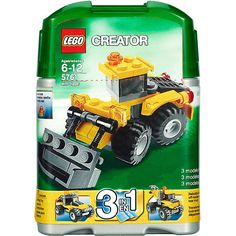 O: LEGO Dig into backyard building fun!Move dirt with the bucket that raises and lowers, steer with the articulated body and check out the detailed engine in back of the Mini Digger! Comes in a handy reusable storage can. $ 9.95  Detailed engine and articulated steering action  Raise and lower bucket!  3-in-1 build: rebuild into an off-roader and tow truck!