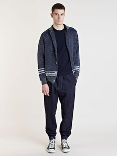 Sacai Men's Patterned Cardigan