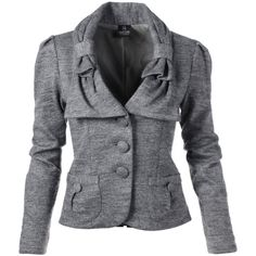 Knitted blazer (950 PLN) ❤ liked on Polyvore featuring outerwear, jackets, blazers, patch pocket blazer, blazer jacket, tailored blazer, tailored jacket and long sleeve blazer