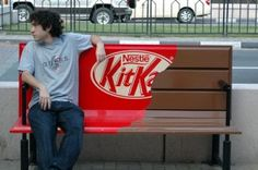 Kit Kat Outdoor #marketingdeguerrilla