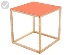 Present Time Leitmotiv Cubo Table, Orange - Fun stuff and gift ideas (*Amazon Partner-Link)