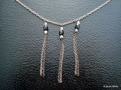 Silver Chain Dangle Necklace Black Necklace All by StudioMilika, $25.00