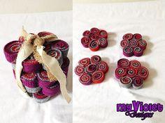 Posavasos y fuente, o posa tetera y tazas :D, My Violet  muchos diseños diferentes por pedido, todo personalizado. myvioletdesigns.com