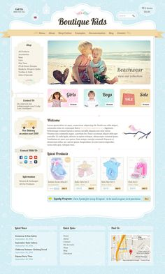 This theme is perfect for any clothing store, toy shop, kids, family, creative, children's or art themed website.
