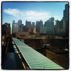 Great preview of what we'll see on our future commute | Skyline from the new Morgan St station, West Loop, Chicago