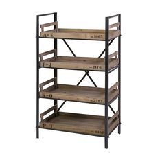 If the shelves are removable, this would be great as project storage. Clerk Tray Shelf   dotandbo.com