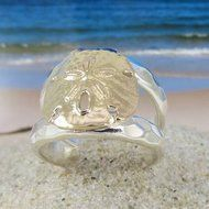 Tipos Creations - Cape Cod Jewelry: Double Split Sand Dollar Ring