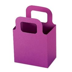 Make quick and easy gift holders and treat bags with this die - can be made in any color, and embellished countless ways!
