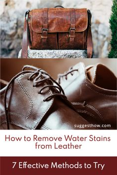 Rainy weather and stuck water puddles can make your leather accessories like leather purse, leather shoes or leather boots look paled and dirty. In this situation, avoiding leather is never a good choice. Instead, learn how to remove water stains from leather and look fabulous all the time. #clean #homehacks #DIY #cleaninghacks Tan Leather, Leather Shoes, Rubbing Alcohol Uses, Yoga For Flat Belly, Water Puddle, Remove Water Stains, Rainy Weather, Foot Pads, Leather Conditioner