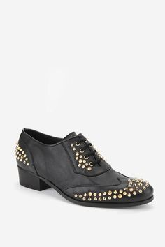 Edgy & sophisticated #urbanoutfitters #stud #miista #oxford
