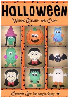 Halloween Writing Craftivity. 90 Pages FULL of FUN and ENGAGING Halloween writing activities and craft!