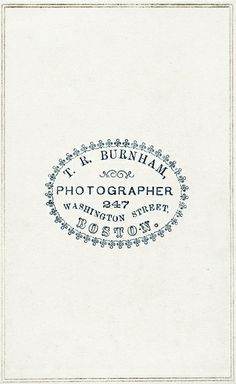 cabinet cards @hautecards: Beautiful stamped logo one ink, vintage style typography, stamps for posters, stamps for envelopes, photographer logo