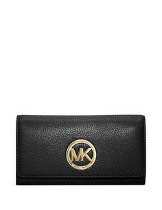 Michael Michael Kors Fulton Gusset Carryall Leather Snap Wallet