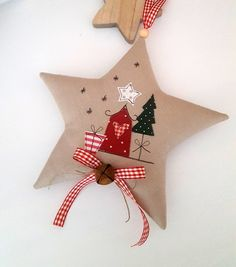 Weihnachtsdeko - Stern-Weihnachten im Landhaus - Stil - ein Designerstück von Feinerlei bei DaWanda