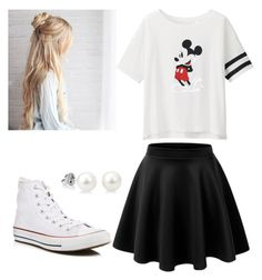 """HS Outfits"" by riniu on Polyvore featuring beauty, LE3NO, Uniqlo and Converse"