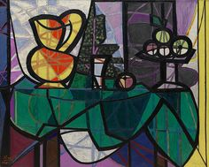 Collection Online   Pablo Picasso. Pitcher and Bowl of Fruit (Pichet et coupe de fruits). February 1931 - Guggenheim Museum