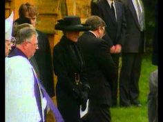 "April 1, 1992: HRH Diana, Princess of Wales attending the funeral of her father, ""Johnny"" Spencer, 8th Earl Spencer at church of St. Mary the Virgin, Great Brington. He died at the Humana Hospital Wellington on March 29, 1992."