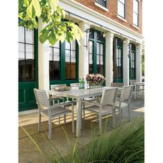 You can invite all your friends to gather around the Oxford Garden Travira Aluminum 7 Piece Lite-Core Rectangular Patio Dining Set , but if you kept. Granite Dining Table, Solid Wood Dining Table, Outdoor Dining Set, Patio Dining, Outdoor Decor, Dining Chair, Tropical Outdoor Furniture, Outdoor Furniture Sets, Recycled Furniture