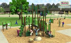 Let Burke help inspire you to create unique and beautiful #playground with this Nature Inspired Play design. Imagine! Inspire! Dream!