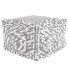 Majestic Home Goods 85907237037 Gray Towers Ottoman