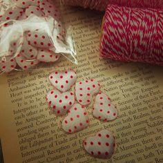 Polka Dot Heart Applique  #craft365.com