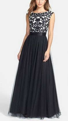 Black Prom Dresses,A Line Prom Dress,Tulle Prom Dress,Lace Prom Dresses,2016 Formal Gown,Cap Sleeves Evening…