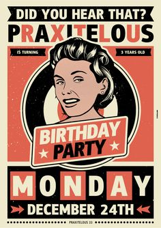 Birthday party poster by indyvisuals