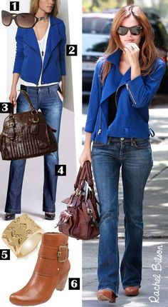 Dress by Number: Rachel Bilson's Blue Jacket - The Budget Babe