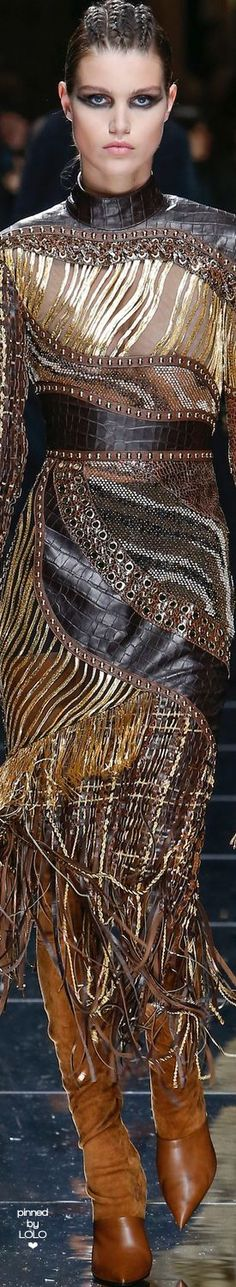 Unique pattern and textures for inspiration... Balmain Fall/Winter 2017 RTW