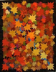 Third Weekend in October, 85 x 110, quilt pattern by Ruth Powers