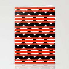 Vreugdehil Black & Red Stationery Cards by Stoflab - $12.00