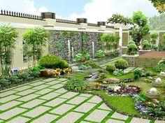 Small Backyard Design, Modern Garden Design, Sky Garden, Home And Garden, Modern House Facades, Dry Stone, Rooftop Garden, Top 5, Facade House
