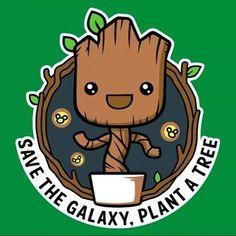 Earth Day every day!  #EarthDay #SaveTheEarth #SaveTheGalaxy #SaveThePlanet #GoGreen #Groot #BabyGroot #GOTG #GuardiansofTheGalaxy
