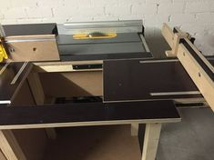 Table saw and router table with sliding panel attachment
