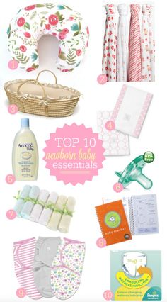 Top 10 Must Haves for Newborns