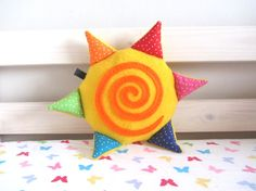 Baby Toy: Happy Sunshine Rattle Plush Toy with by MadeByEdenGrace