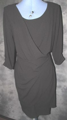 Marks and Spencer,ladies,new,size 14,black,no pattern,scoop neck,,Formal,Dress.