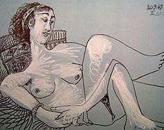 Pablo Picasso - nue couchee -1969                                                                                                                                                                                 Mais Pablo Picasso Drawings, Picasso Art, Trinidad, Online Art Gallery, Art Museum, Sculptures, Sketches, Artist, Painting