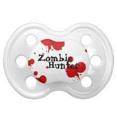 """Zombie Hunter"" Humorous Baby Pacifier"