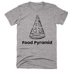 Food Pyramid. Pizza T-Shirt