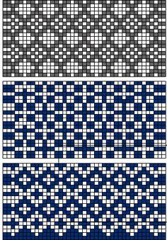北欧柄の編み込みマフラーの作り方|(おまけレシピ〜ほかの図案では〜) これらの図案でも同じ目数で出来ます。長さ(段数)は柄と好みに応じて調整してくださいね。